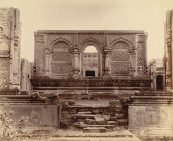 Front view of the unfinished tomb of the late Nawab, Pathari, Bhopal